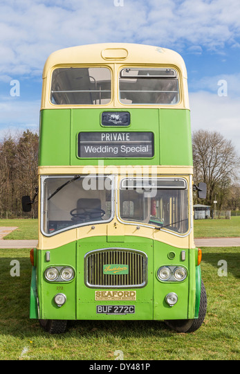 Vintage Bus at Display of Heritage Vehicles - Stock-Bilder