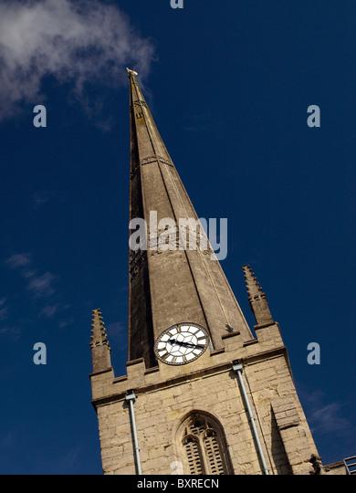 Church steeple, Trowbridge, Wiltshire, UK - Stock-Bilder