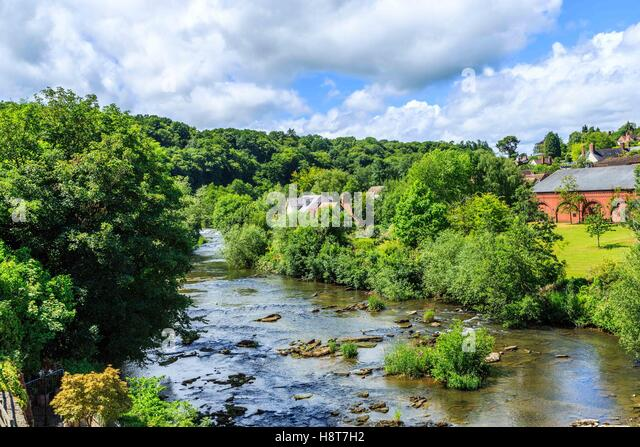 The beautiful River Wye in Herefordshire, England - Stock Image