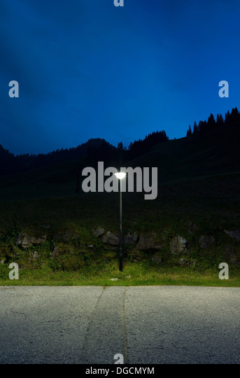 Street light by roadside, Salzburg, Austria - Stock Image