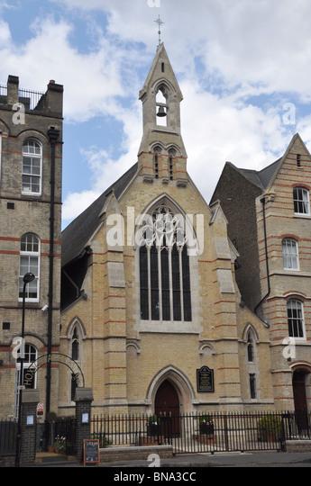 St Monica's Roman Catholic Church Hoxton Square London England UK - Stock-Bilder