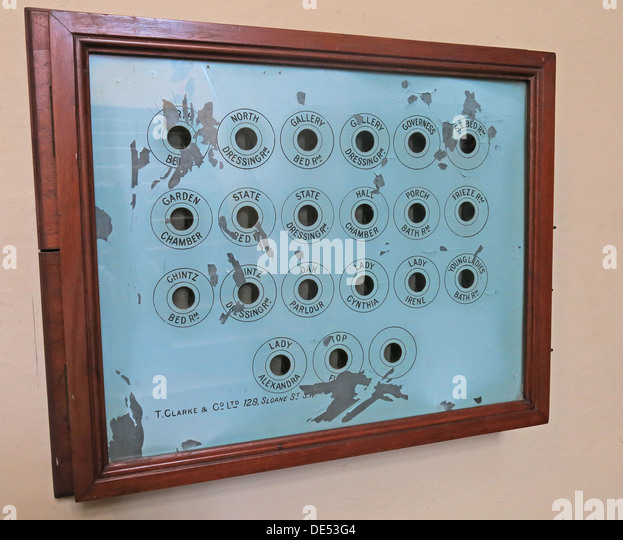 Internal country Mansion telephone call system from Montecute House, NT, Somerset - Stock Image