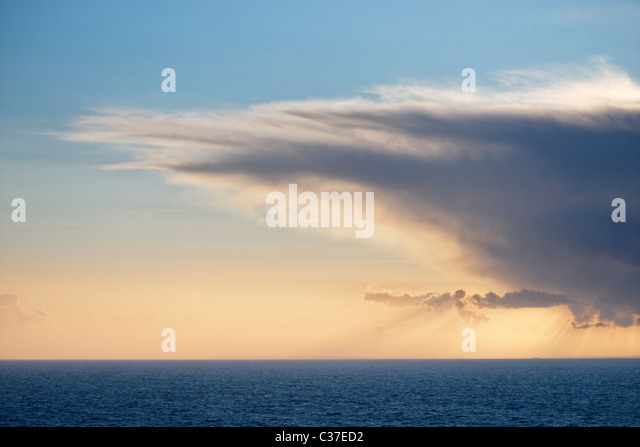Cumulonimbus cloud over the Atlantic Ocean. - Stock Image