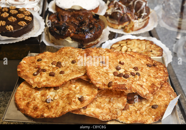 Confiserie, Almond pastries, Valencia, Spain - Stock Image