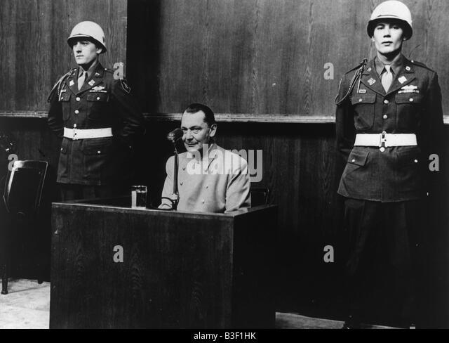 Nuremberg Trials, Hermann Goering. - Stock Image