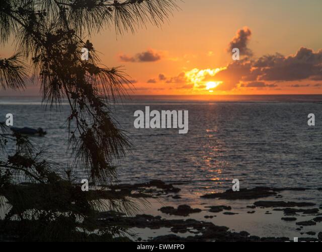 Blue Bay ile Maurice indian ocean Mascaregnes mauritius Ocean Indien tropics tropical island - Stock-Bilder