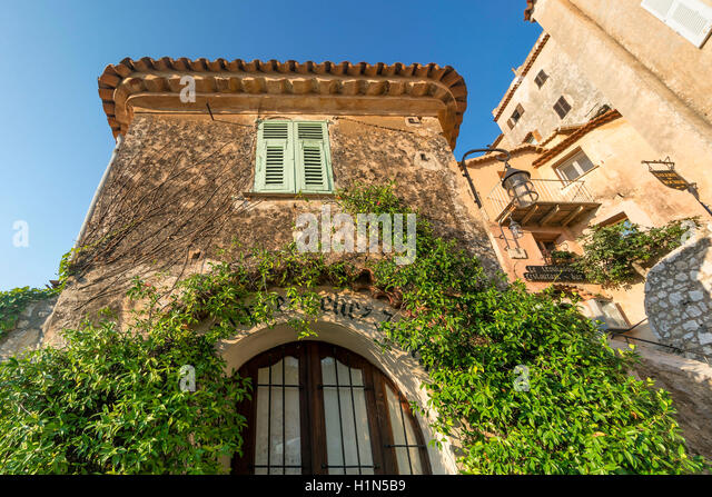 Jasmine covered entryway, Eze Village, Historic town, Medieval Village, Eze, Provence-Alpes-Cote d'Azur, France - Stock Image
