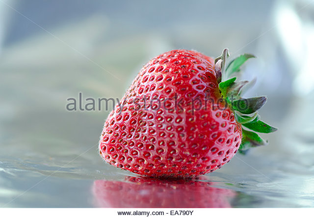 Strawberry on table - Stock Image