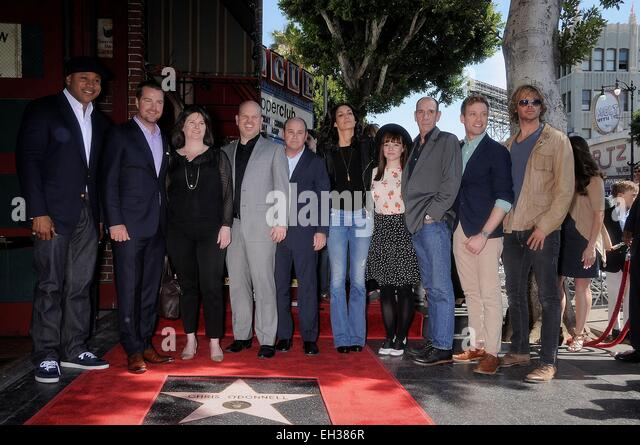 Ncis los angeles cast members crew members at the induction stock