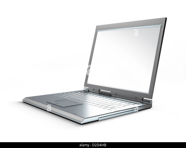 Laptop computer computer artwork - Stock Image