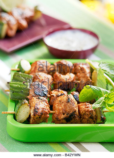 Chicken tandoori  brochettes - Stock Image