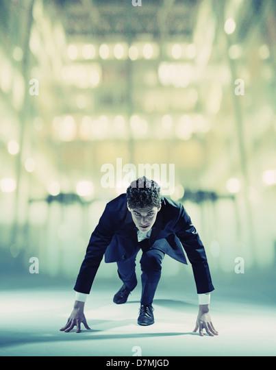 Young businessman starting his light career - Stock-Bilder