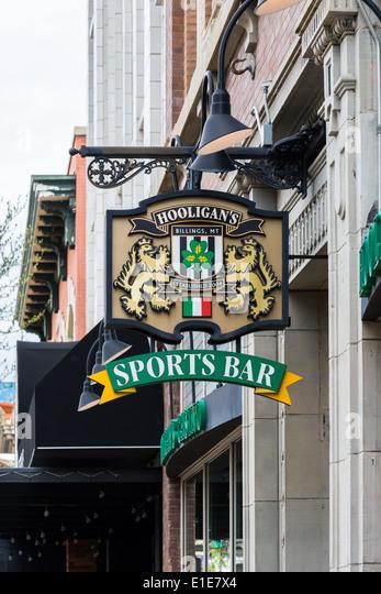 Sign for an Irish sports bar. - Stock Image