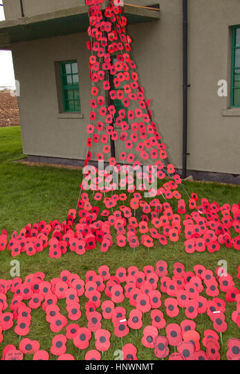 Remembrance day and at Parham Airfield Museum the 740 American airmen who lost their lives whilst stationed there - Stock Image