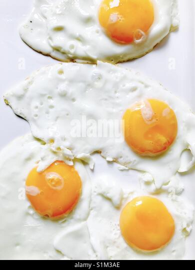 Fried eggs - Stock Image