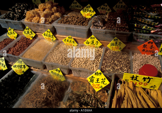 Vancouver Canada Chinatown Market - Stock Image