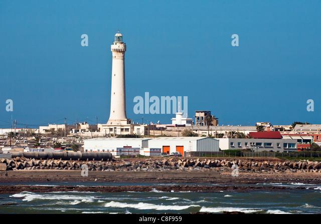 Morocco, North Africa, Africa, Casablanca, El Hank, Leuchtturm, - Stock Image