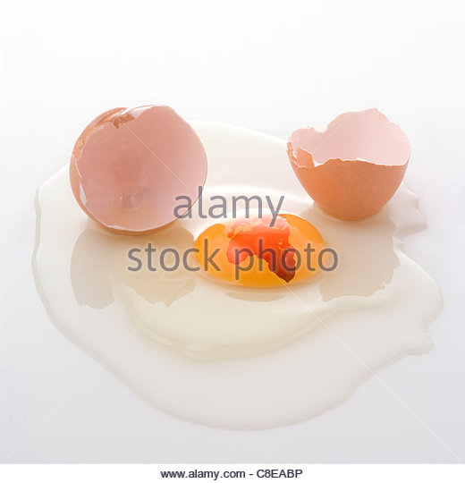 African continent drawn on a raw egg - Stock Image
