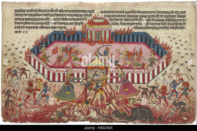 An illustration from the Mahabharata 1 large - Stock Image