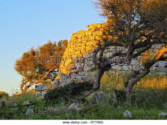 Talati de Dalt - archaeological site on Menorca, Balearic Islands, Spain - Stock Image