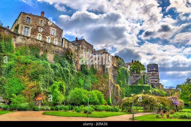 Angers France Castle Stock Photos and Images