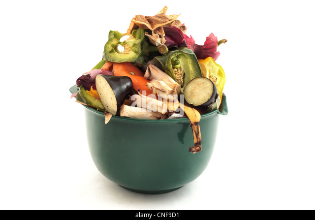 waste food for recycling or composting - Stock Image