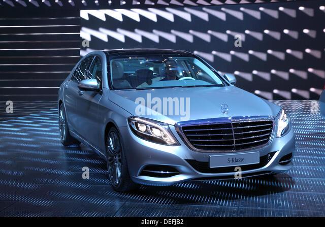 Frankfurt, Germany. 17th Sep, 2013. International Motor Show in Frankfurt, Germany. Mercedes Benz presenting new - Stock Image