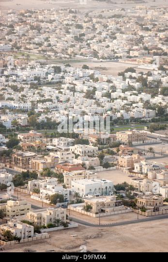 View over Doha, Qatar, Middle East - Stock Image