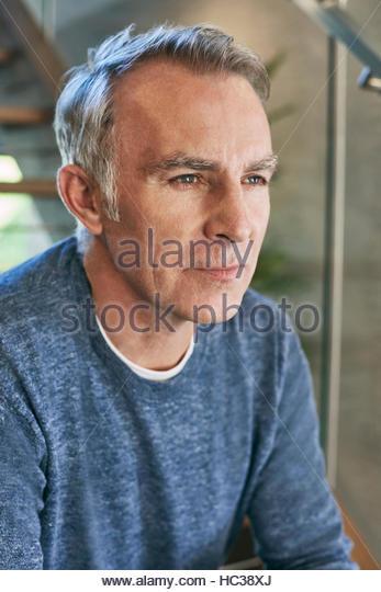 Portrait of mature man. - Stock Image