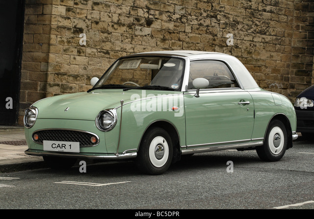 Nissan Figaro retro Style car limited edition automatics made in 1993 madeonly in 4 colours for each season of the - Stock Image