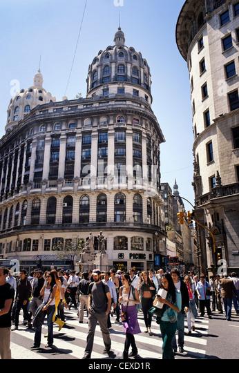 Avenida de Florida, downtown Buenos Aires, Argentina - Stock Image