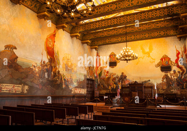 Mural room stock photos mural room stock images alamy for Mural room santa barbara