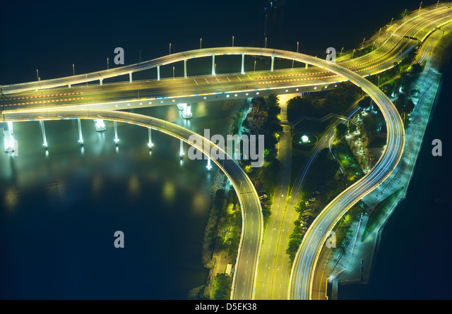 Ramps and bridges in Macau, China - Stock Image