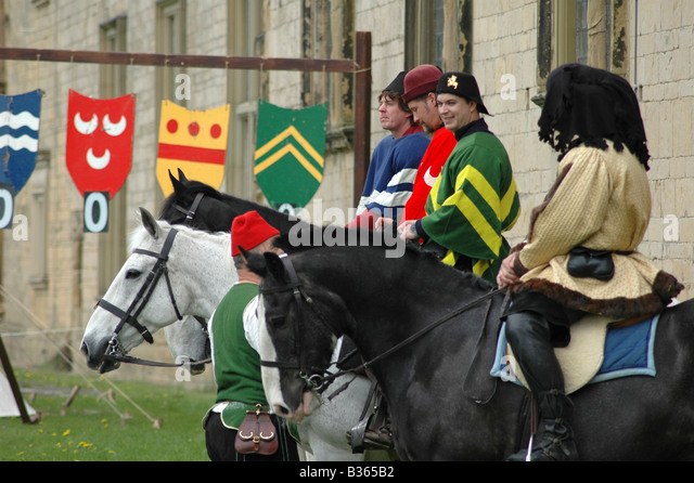4 Squires on Horseback - Stock Image