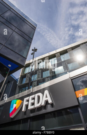 FEDA, Consell General, Andorra la Vella, capital city of Andorra, Andorra - Stock Image
