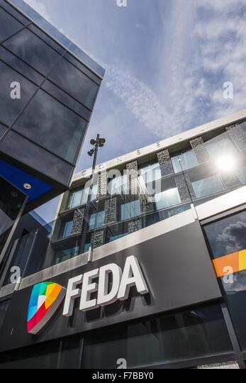 FEDA, Consell General, Andorra la Vella, capital city of Andorra, Andorra - Stock Image