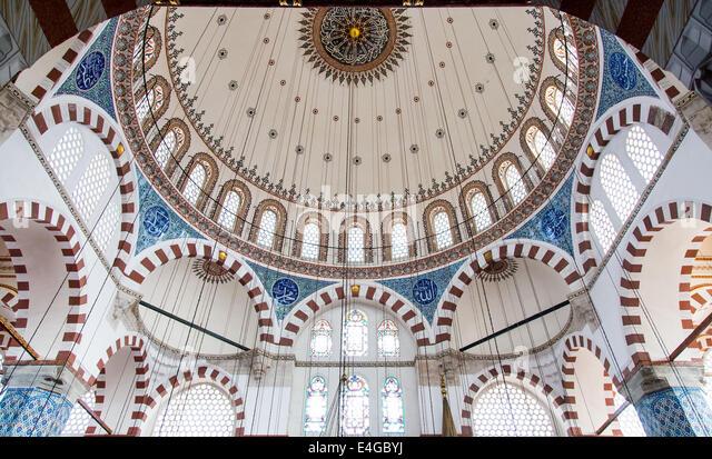 Dome of Rustem Pasha Mosque in Eminonu, Istanbul. - Stock Image