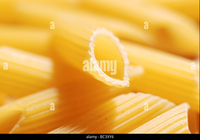 Close up of uncooked pasta - Stock Image