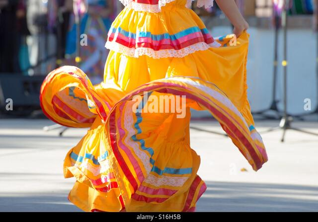 Mexican dancing - Stock Image