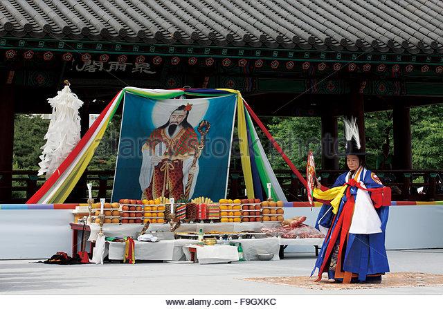 gut, Korean traditional exorcism - Stock Image