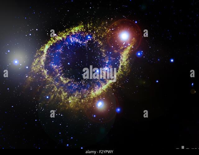 Helix Nebula (NGC 7293), a planetary nebula located 700 light-years away. Elements of this image furnished by NASA - Stock Image