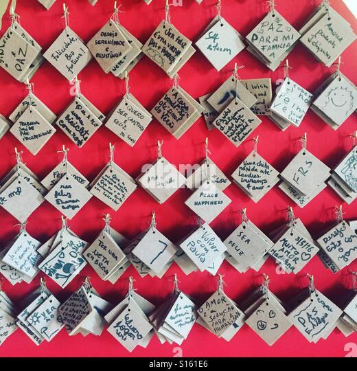 wishes wall - Stock-Bilder