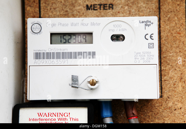 Electric Meter Number : Uk electricity meter stock photos