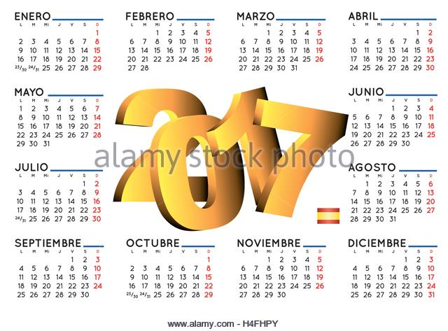 Weekly Calendar In Spanish : Spanish daily paper stock photos