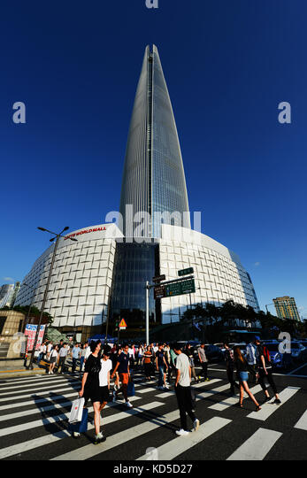 THe Lotte World Tower in Seoul, South Korea. - Stock Image