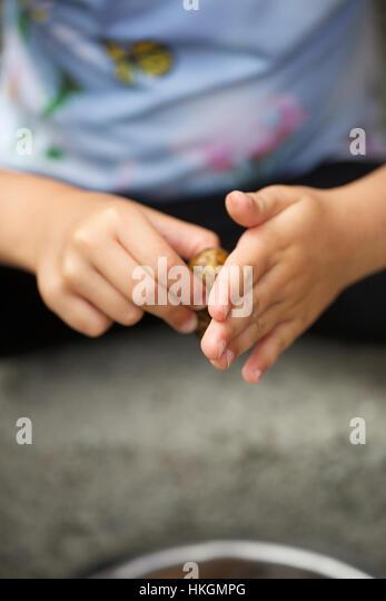 hands washing potato. raw potato, food, hygiene, cleaning. - Stock Image