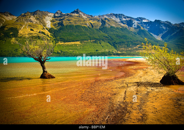 Lake Wakatipu Glenorchy New Zealand - Stock Image
