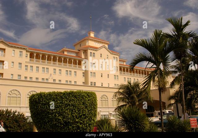 Nassau Bahamas British Colonial Hilton Hotel exterior - Stock Image