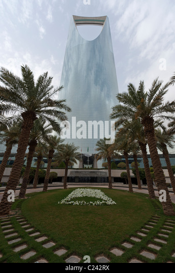 Kingdom Tower, Riyadh, Saudi Arabia - Stock Image