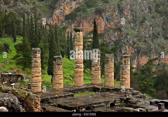 Delphi Temple Apollo Stock Photos & Delphi Temple Apollo ...